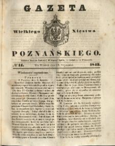 Gazeta Wielkiego Xięstwa Poznańskiego 1843.01.17 Nr14