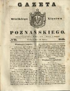 Gazeta Wielkiego Xięstwa Poznańskiego 1843.03.24 Nr71