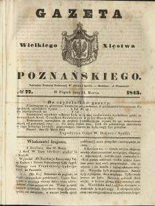 Gazeta Wielkiego Xięstwa Poznańskiego 1843.03.31 Nr77