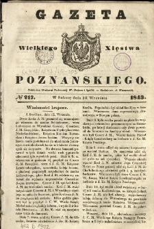 Gazeta Wielkiego Xięstwa Poznańskiego 1843.09.16 Nr217