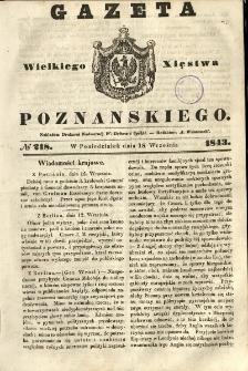 Gazeta Wielkiego Xięstwa Poznańskiego 1843.09.18 Nr218