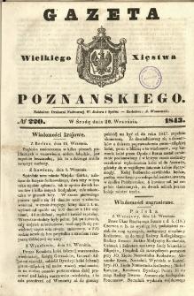 Gazeta Wielkiego Xięstwa Poznańskiego 1843.09.20 Nr220