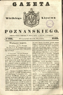 Gazeta Wielkiego Xięstwa Poznańskiego 1843.09.21 Nr221