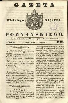 Gazeta Wielkiego Xięstwa Poznańskiego 1843.09.22 Nr222