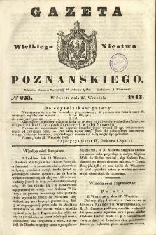 Gazeta Wielkiego Xięstwa Poznańskiego 1843.09.23 Nr223