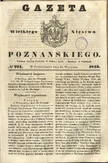 Gazeta Wielkiego Xięstwa Poznańskiego 1843.09.25 Nr224