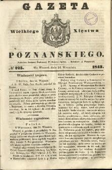 Gazeta Wielkiego Xięstwa Poznańskiego 1843.09.26 Nr225