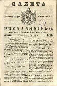 Gazeta Wielkiego Xięstwa Poznańskiego 1843.09.27 Nr226