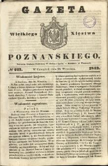 Gazeta Wielkiego Xięstwa Poznańskiego 1843.09.28 Nr227
