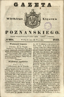 Gazeta Wielkiego Xięstwa Poznańskiego 1843.09.29 Nr228