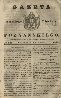 Gazeta Wielkiego Xięstwa Poznańskiego 1843.10.05 Nr233