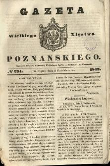 Gazeta Wielkiego Xięstwa Poznańskiego 1843.10.06 Nr234