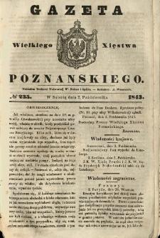 Gazeta Wielkiego Xięstwa Poznańskiego 1843.10.07 Nr235