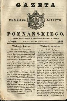 Gazeta Wielkiego Xięstwa Poznańskiego 1843.10.11 Nr238