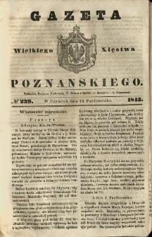 Gazeta Wielkiego Xięstwa Poznańskiego 1843.10.12 Nr239