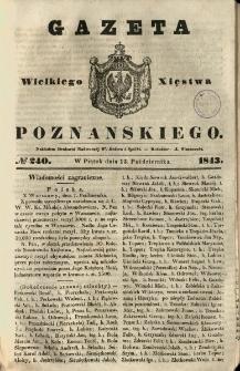 Gazeta Wielkiego Xięstwa Poznańskiego 1843.10.13 Nr240