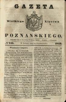 Gazeta Wielkiego Xięstwa Poznańskiego 1843.10.14 Nr241