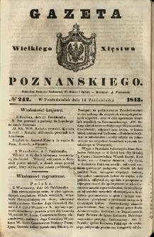 Gazeta Wielkiego Xięstwa Poznańskiego 1843.10.16 Nr242