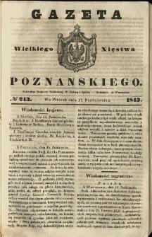 Gazeta Wielkiego Xięstwa Poznańskiego 1843.10.17 Nr243