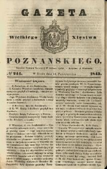 Gazeta Wielkiego Xięstwa Poznańskiego 1843.10.18 Nr244