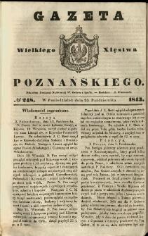 Gazeta Wielkiego Xięstwa Poznańskiego 1843.10.23 Nr248