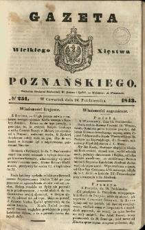 Gazeta Wielkiego Xięstwa Poznańskiego 1843.10.26 Nr251