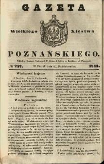 Gazeta Wielkiego Xięstwa Poznańskiego 1843.10.27 Nr252