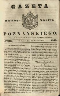 Gazeta Wielkiego Xięstwa Poznańskiego 1843.10.28 Nr253