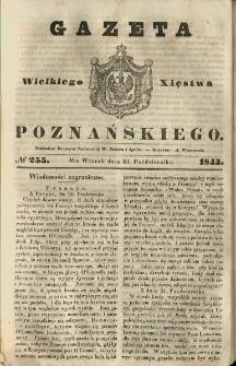 Gazeta Wielkiego Xięstwa Poznańskiego 1843.10.31 Nr255