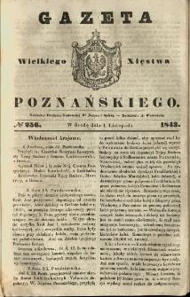 Gazeta Wielkiego Xięstwa Poznańskiego 1843.11.01 Nr256