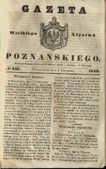 Gazeta Wielkiego Xięstwa Poznańskiego 1843.11.02 Nr257