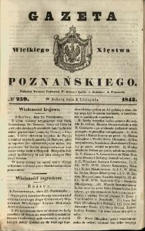 Gazeta Wielkiego Xięstwa Poznańskiego 1843.11.04 Nr259