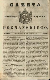 Gazeta Wielkiego Xięstwa Poznańskiego 1843.11.06 Nr260