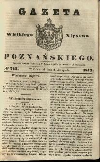 Gazeta Wielkiego Xięstwa Poznańskiego 1843.11.09 Nr263