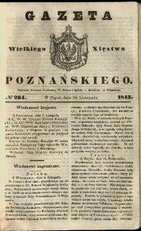 Gazeta Wielkiego Xięstwa Poznańskiego 1843.11.10 Nr264