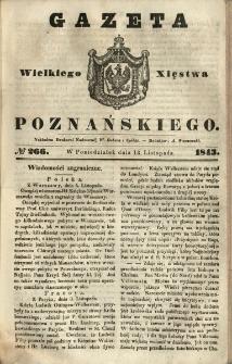 Gazeta Wielkiego Xięstwa Poznańskiego 1843.11.13 Nr266