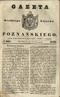 Gazeta Wielkiego Xięstwa Poznańskiego 1843.11.14 Nr267