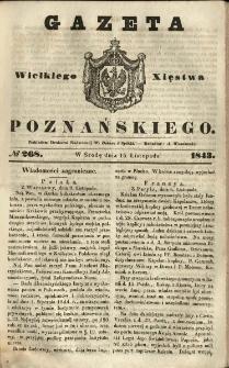 Gazeta Wielkiego Xięstwa Poznańskiego 1843.11.15 Nr268