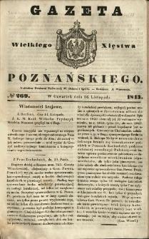 Gazeta Wielkiego Xięstwa Poznańskiego 1843.11.16 Nr269