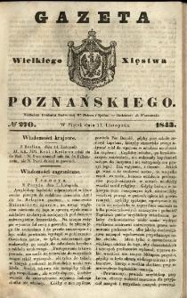 Gazeta Wielkiego Xięstwa Poznańskiego 1843.11.17 Nr270