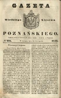 Gazeta Wielkiego Xięstwa Poznańskiego 1843.11.18 Nr271