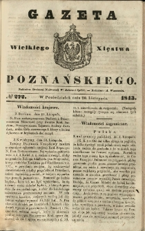 Gazeta Wielkiego Xięstwa Poznańskiego 1843.11.20 Nr272