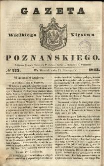 Gazeta Wielkiego Xięstwa Poznańskiego 1843.11.21 Nr273