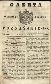 Gazeta Wielkiego Xięstwa Poznańskiego 1843.11.22 Nr274