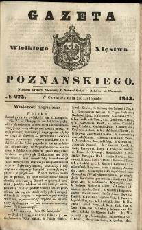 Gazeta Wielkiego Xięstwa Poznańskiego 1843.11.23 Nr275