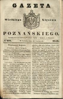 Gazeta Wielkiego Xięstwa Poznańskiego 1843.11.25 Nr277