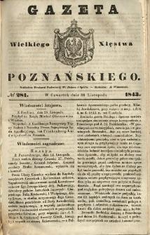 Gazeta Wielkiego Xięstwa Poznańskiego 1843.11.30 Nr281