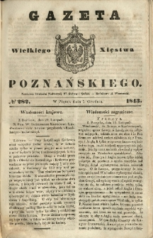 Gazeta Wielkiego Xięstwa Poznańskiego 1843.12.01 Nr282
