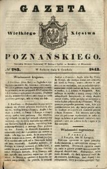 Gazeta Wielkiego Xięstwa Poznańskiego 1843.12.02 Nr283