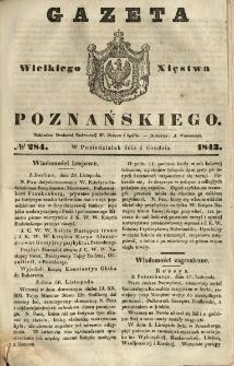 Gazeta Wielkiego Xięstwa Poznańskiego 1843.12.04 Nr284